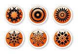 Orange abstract symbols