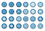 Christmas snowflake stickers