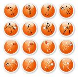 Sport symbol stickers