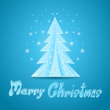 Blue Christmas greeting Card. Illustration