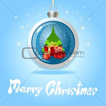 Christmas ball and gift box