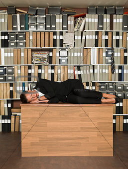Sleeping Businesswoman