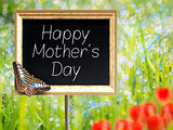 Chalkboard with text Happy Mothers Day