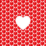Vector heart Valentine's day pattern