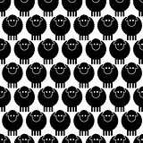 Seamless pattern black sheep