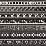 Set of ancient borders, frames. Seamless pattern