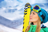 Beautiful skier girl portrait