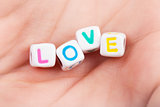 Cubes with love word