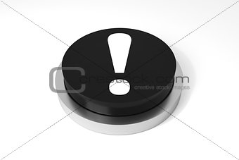 black round button exclamation mark