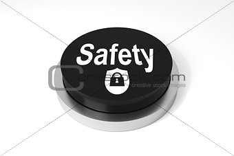 black round button safety  protection symbol