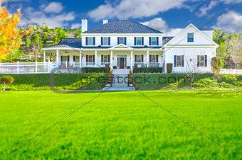 Beautiful Custom Built Home Facade