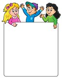 Blank frame with happy kids