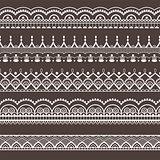 Lace ornament, borders. Seamless pattern