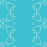 Vector Illustration - Seamless floral wallpaper