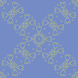 Vector Illustration - Seamless floral lilac wallpaper
