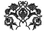 black artistic ottoman motif series