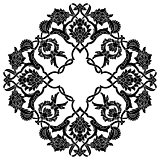 black artistic ottoman pattern series fifty three version