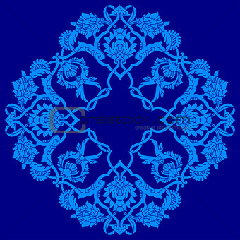 blue artistic ottoman pattern series fifty three version