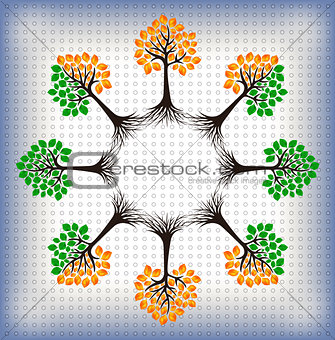 Abstract trees background