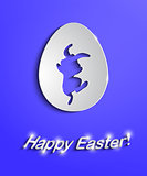 Easter egg with bunny silhouette