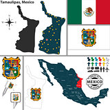 Map of Tamaulipas, Mexico
