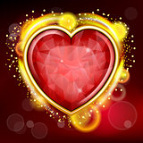 Valentines Day background with heart