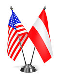 USA and Austria - Miniature Flags.