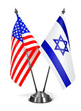 USA and Israel - Miniature Flags.