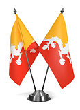 Bhutan - Miniature Flags.