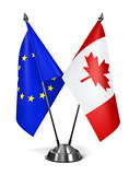 EU and Canada - Miniature Flags.