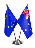 EU and Australia - Miniature Flags.
