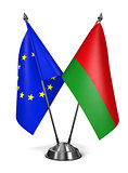 EU and Belarus - Miniature Flags.