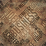 Business- Grunge Brown Word Collage.