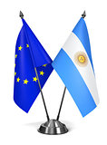 EU and Argentina - Miniature Flags.