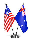USA and Australia - Miniature Flags.