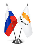 Russia and Cyprus - Miniature Flags.