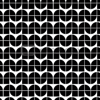 Abstract monochrome tiles seamless pattern.