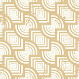 Vintage geometric seamless background, old vector repeat pattern