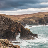 Natural Archway on Scottish coastline