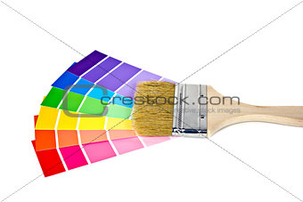 paint brush on paint chip