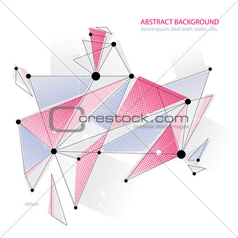 Abstract mesh vector illustration, template for technology theme layouts. Connection and communication theme, engineering idea, clear EPS8.