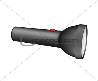 Flashlight in black design