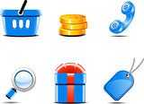 Set of icons for online shop