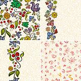 Four Forest Doodle Patterns