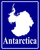 silhouette map of Antarctica