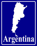 silhouette map of Argentina