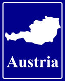 silhouette map of Austria