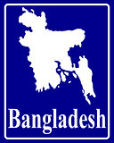 silhouette map of Bangladesh