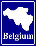 silhouette map of Belgium