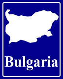 silhouette map of Bulgaria